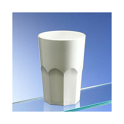 62c74481eaeb Virtually Unbreakable White Plastic Octagon Shaped Tumblers 350ml 12oz Pack  of 8