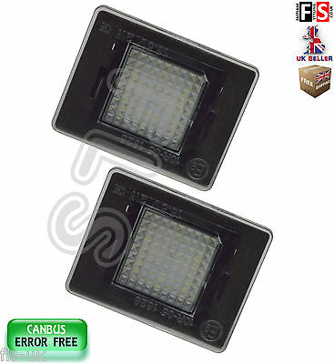 Mercedes Number Plate Lights W156/166/176 X166 Led White 18Smd Canbus Error Free