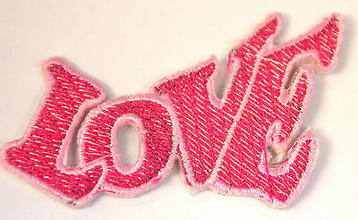 LOVE PINK SIGN LOGO Embroidered Iron Sew On Cloth Patch Badge APPLIQUE
