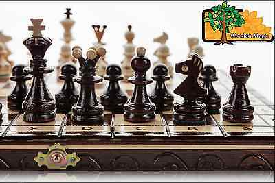 PEARL - 35cm / 14in Handcrafted Wooden Chess Set
