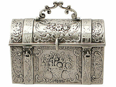 Sterling Silver Trinket/Jewellery Casket - Antique Victorian