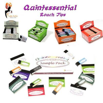 Quintessential Maxi Pack Roach Tip Filter Smoking Rolling Tip Organic Standard