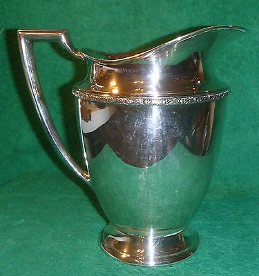 Wm Rogers Silver Plate Water Pitcher #5717 HARVEST Pattern