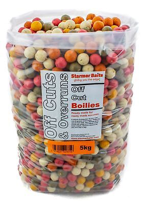 Carp fishing Boilies 5kg bag Mixed off cuts and over runs mixed sizes and colour
