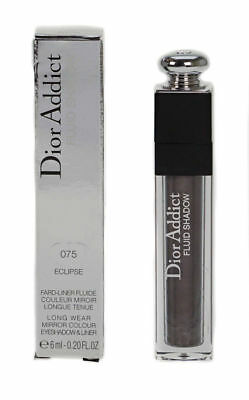 Dior Addict Fluid Shadow Smokey Grey Eyeshadow & Liner 075 Eclipse