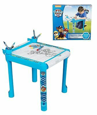 Paw Patrol Colouring Table Crayons Markers and Paper Roll Kids Activity Toy