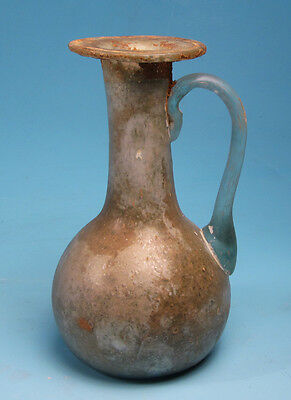 Roman Green Glass Juglet  - Ancient Art & Antiquities