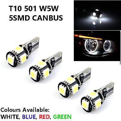 X2 Canbus White Xenon 8 LED Sidelights//Numberplate Bulbs RENAULT SCENIC 2003-09