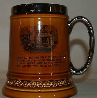 Vintage  Large Mug Tankard Stein Lord Nelson Pottery England, great condition