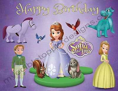 Sofia The First Personalized Edible Image Cake Topper Frosting Sheets 5 Sizes