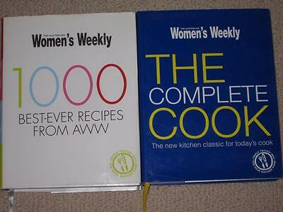 2 Big Aust Womens Weekly Cookbooks  The Complete Cook & 1000 Best Ever Recipes