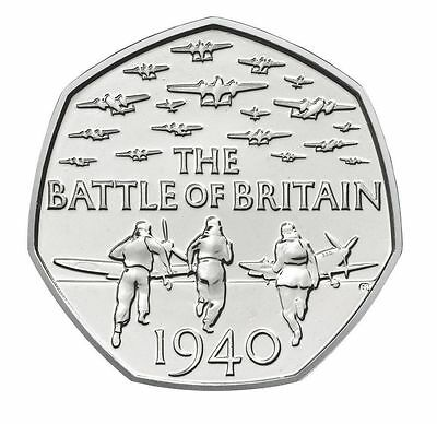 2015 50P COIN THE BATTLE OF BRITAIN 5TH PORTRAIT RARE FIFTY PENCE (b)