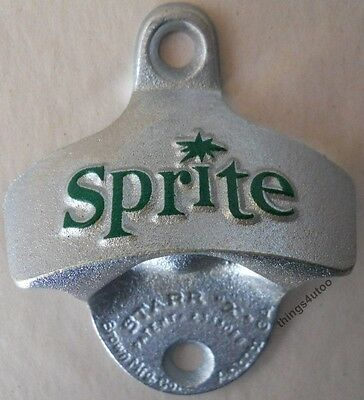 Starr Retro bottle opener Sprite soda NIB wall mounting #K312