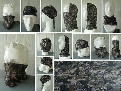 'CAMO' Head/Face/Mask/Neck Multi-wear tube Bandana/Durag.SPF5,Scarf/Wrap. 023