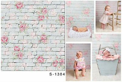 3x5ft Vinyl Photography Backdrops Brick Wooden Wall Baby Background Studio Props