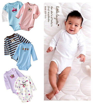 5pcs Baby newborn Boys Girls Romper Outfits set Jumpsuit Summer Spring clothes