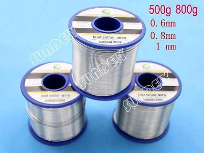 NEW! Quick Flow Electrical Solder Wire 500g 800g Reel 2% Grade Tin Lead 63/37