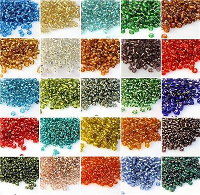 500 Pcs/32g 4mm Czech Glass Seed Spacer Beads Jewelry Making DIY Pick 10 Color