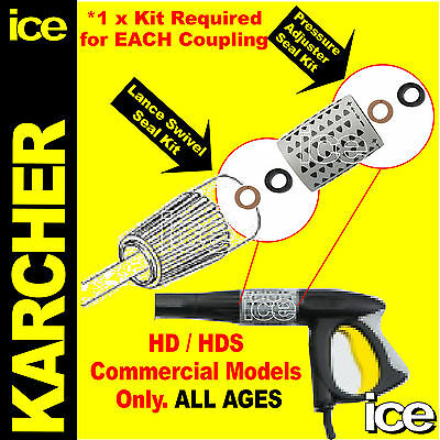 Karcher Hds 5/12 6/10 10/20 12/18 Leaking Dripping Lance Swivel O-Ring Seal Kit