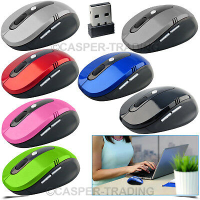 2.4GHZ Wireless Mouse Cordless Optical Scroll Mouse PC Computer with USB Dongle
