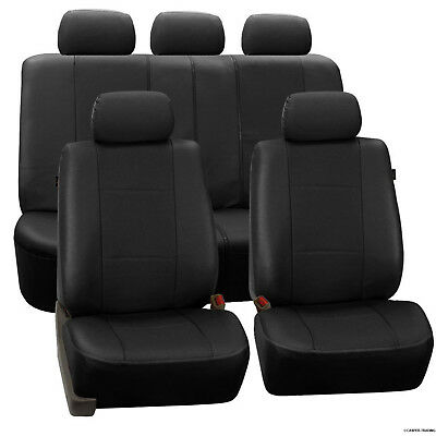 Universal Heavy Duty Leather Look Car Washable Seat Covers Air Bag Compatible Uk