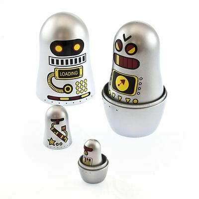 Robot Matryoshka Dolls Russian Style Nesting Dolls Collectors Box