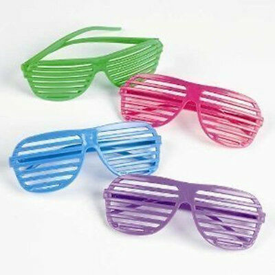 12PCS Rhode Island Novelty 80`s Slotted Toy Sunglasses Party Favors  Costume