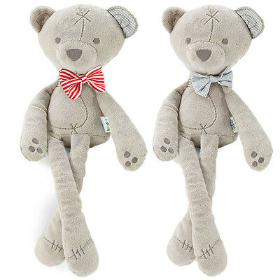 Soft Cute Bowtie Bear Toy Stuffed Animal Baby Kids Sleeping Gift Comfort Doll