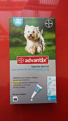 ADVANTIX 4-10kg, 4 PIPETAS antiparasitario
