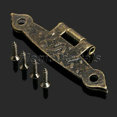 New Antique Bronze Jewelry Box Cupboard Cabinet Drawer Long Hinges Hardware 8Pcs