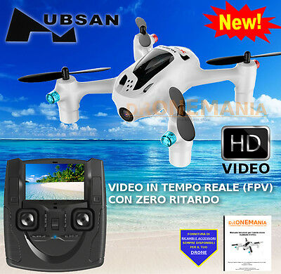 """DRONE Hubsan X4 H107D+ FPV Quadcopter trasmettitore VIDEO realtime LCD 4,3"""" RC"""