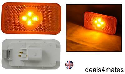 1X 4 Led Side Marker Amber Lights Lamps Specific Fit For Volvo Fh-Fm-Fl