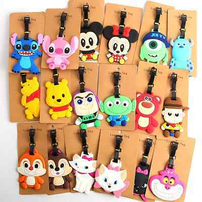40 Styles New Disney Luggage Tags Travel Suitcase Baggage Card Holder Name Bags