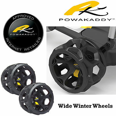 Powakaddy Winter Wheels Wide Wheels New 2016 Replacement Powakaddy Wheels