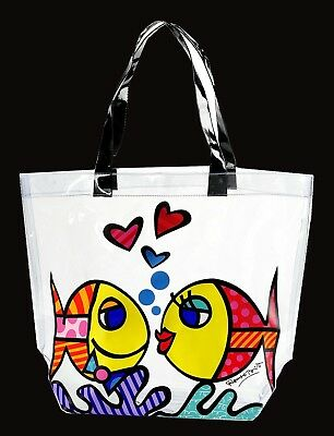 ROMERO BRITTO MIAMI POP ART - Strandtasche Beach Bag Badetasche Shopper - NEU !!