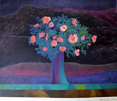 Pierre Garcia-Fons scrubland flowers HAND SIGNED LIM.ED 81/100 LITHOGRAPH French