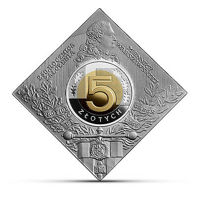 Poland 2016 Silver Coin 5 ZL 250th Anniversary of Foundation of the Warsaw Mint