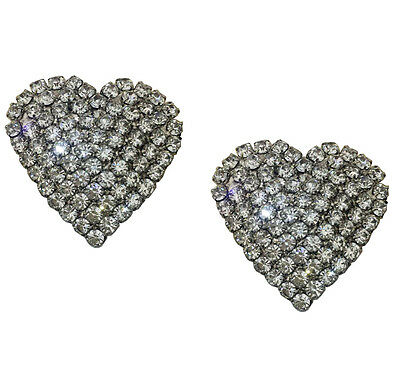 """Glitzy Jewelled Shoe Clips, Shoe Embellishments, Brooches (1 Pair) """"Honey"""""""