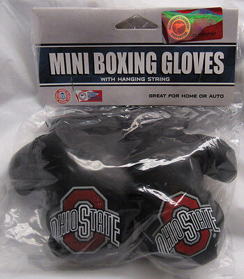 NCAA Ohio State Buckeyes 4 Inch Mini Boxing Gloves for Mirror by Fremont Die