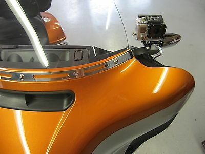 USA made Go Pro Hero mount fits Harley-Davidson 2014 & later batwing fairings