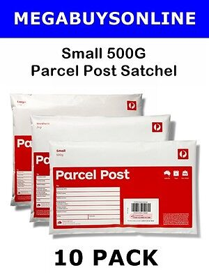Parcel Post Small Prepaid Satchel (500g) 10 Pack +Invoice