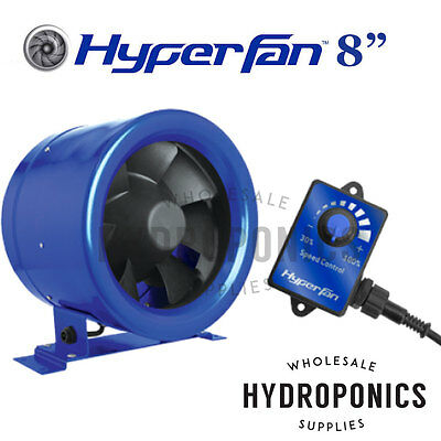 Hyper Fan Digital Mixed Flow 8 inch - 710 CFM with speed controller Inline Duct