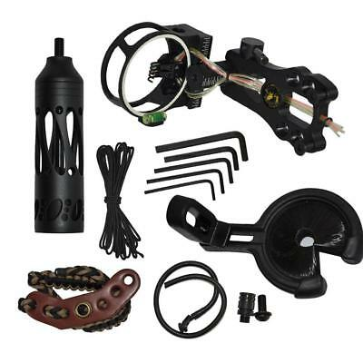 Archery Compound Bow Accessories Kit Stabilizer Arrow Rest Brush Bow Sight Sling