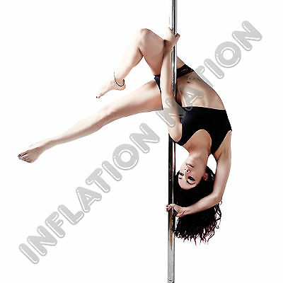 Portable Stripper Dance Pole Exercise Fitness Party Club Dancing Silver Full Kit