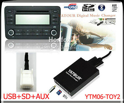 Yatour Digital CD Changer USB SD for Toyota Lexus Scion Small 6+6 plug 2003-2013