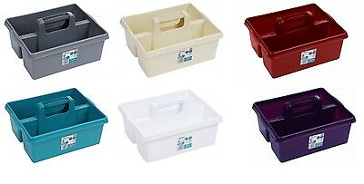 Large Kitchen Tidy Organiser Tool Caddy Storage Box With Handle Strong Plastic