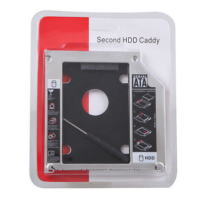 Universal SATA 2nd SSD HDD Hard Drive Caddy For 12.7mm CD/DVD-ROM Optical Bay