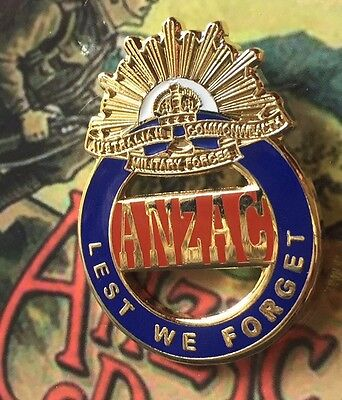 ANZAC Lest We Forget Lapel Pin *Enameled*Remembrance day