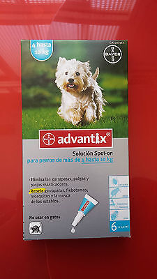 ADVANTIX 4-10kg, 6 PIPETAS antiparasitario