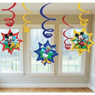 Disney Mickey Mouse Hanging Swirls Boys Birthday Party Red Blue Fun Donald Pluto